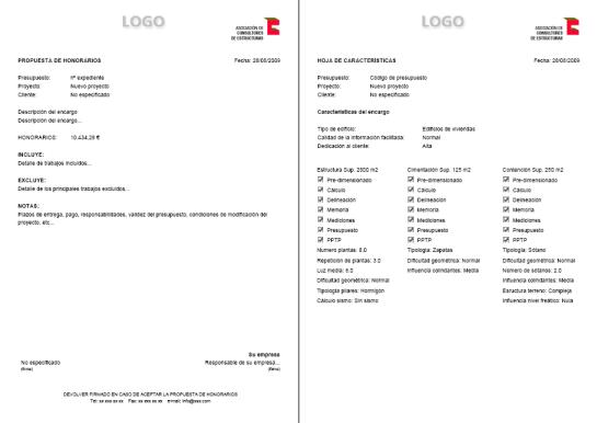 Ejemplo de presupuesto de honorarios altra software s l for Honorarios arquitecto